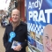 Andrew Pratt in Chorley town centre
