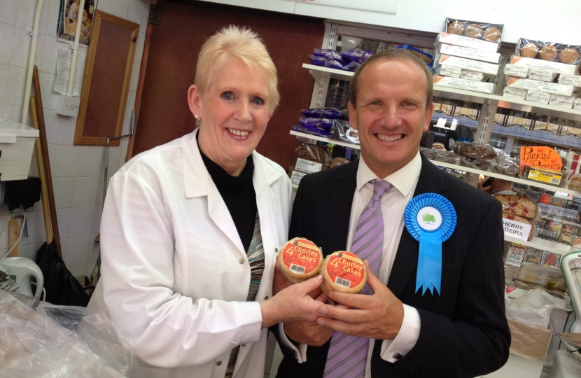 Ti Ashton has to experience Chorley Cakes from the towns famous Market