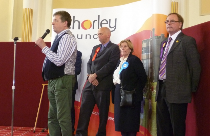 Mark Perks re-elected for Chorley North