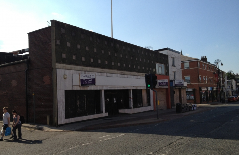 Market Street Chorley - site bought by Chorley Council