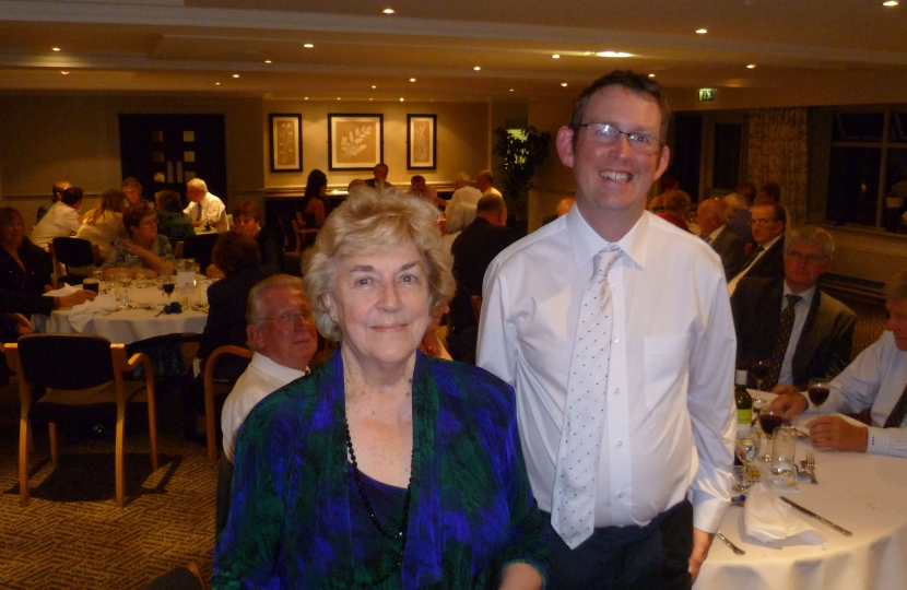 Paul Maynard MP with Chorley Conservatives chairman Jean Rigby