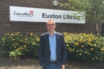 Aidrian Riggott outside Euxton library