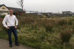 Aidy Riggott at the site of the application