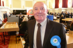 Councillor Eric Bell, 11,000th day on Chorley Council